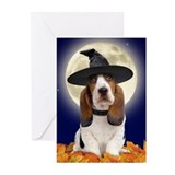 Basset Hound Halloween Greeting Cards (Pk of 10)