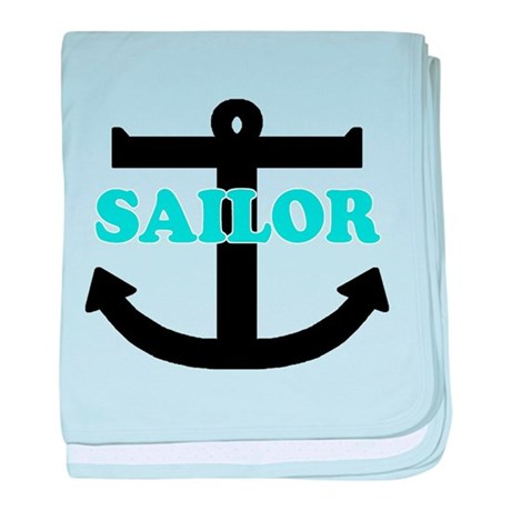 'Sailor' baby blanket