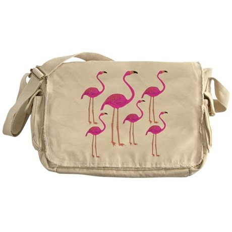 Flamingos Messenger Bag