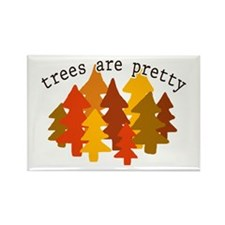 'Trees Are Pretty' Rectangle Magnet (10 pack)