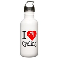 I Love Cycling Water Bottle