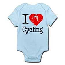 I Love Cycling Infant Bodysuit