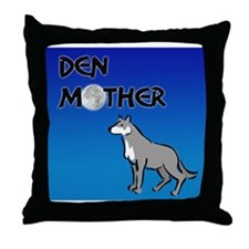 Den Mother Throw Pillow