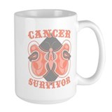 Uterine Cancer Survivor Ceramic Mugs