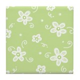 Flowers in Sage Tile Coaster