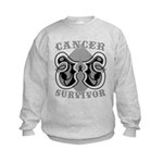 Skin Cancer Survivor Kids Sweatshirt