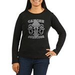 Skin Cancer Survivor Women's Long Sleeve Dark T-Sh