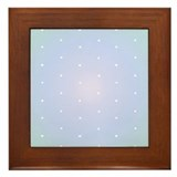 Gradient Dots in Blue Framed Tile