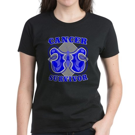 Rectal Cancer Survivor Women's Dark T-Shirt
