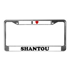 I Love Shantou License Plate Frame