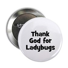 Thank God For Ladybugs Button