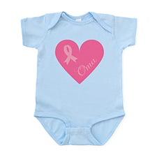 Breast Cancer Oma Heart Infant Bodysuit