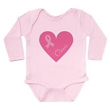 Breast Cancer Oma Heart Long Sleeve Infant Bodysui