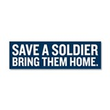 Save a Soldier Car Magnet 10 x 3