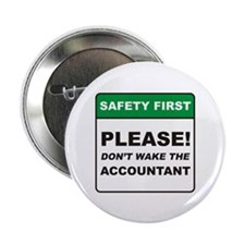 "Accountant / Wake 2.25"" Button (10 pack)"