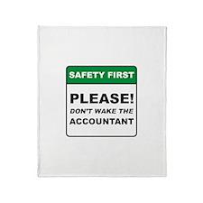 Accountant / Wake Throw Blanket