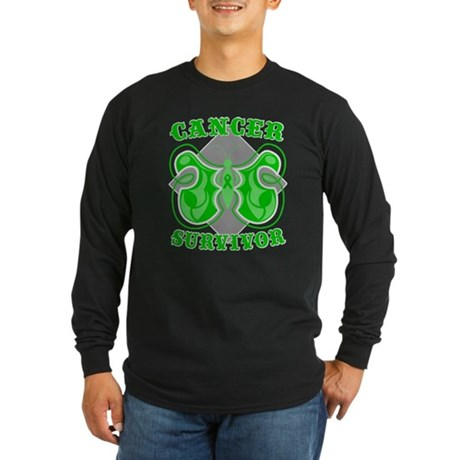 Kidney Cancer Survivor Long Sleeve Dark T-Shirt