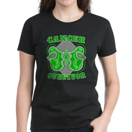 Kidney Cancer Survivor Women's Dark T-Shirt