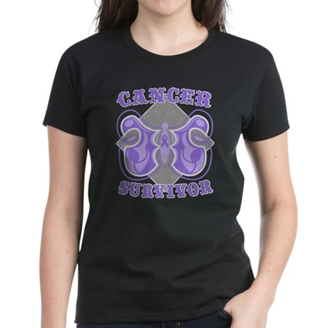Hodgkin's Lymphoma Survivor Women's Dark T-Shirt