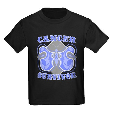 Esophageal Cancer Survivor Kids Dark T-Shirt