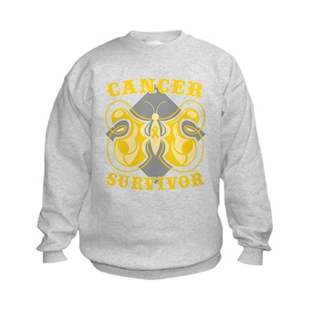 Childhood Cancer Survivor Kids Sweatshirt