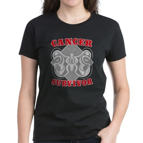 Brain Cancer Survivor Women's Dark T-Shirt