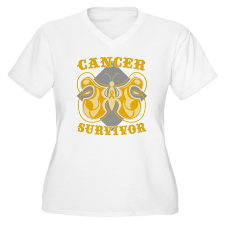 Appendix Cancer Survivor Women's Plus Size V-Neck