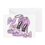 Shoe Crazy Girlfriends Greeting Card
