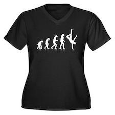 Evolution ballet Women's Plus Size V-Neck Dark T-S