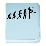 Evolution ballet baby blanket