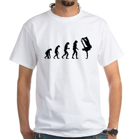 Evolution bboy White T-Shirt