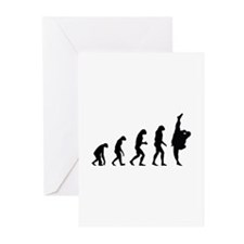 Evolution karate Greeting Cards (Pk of 10)