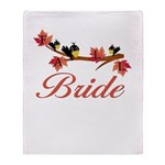 Autumn Bride Throw Blanket