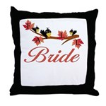 Autumn Bride Throw Pillow
