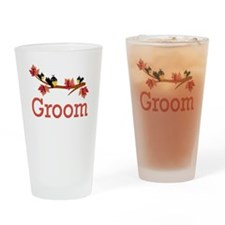 Autumn Groom Drinking Glass
