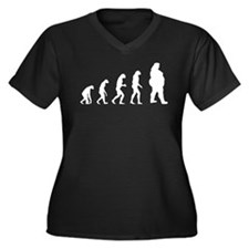 Evolution obese Women's Plus Size V-Neck Dark T-Sh