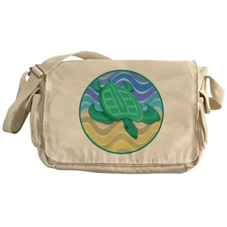 Turtle On Beach Messenger Bag