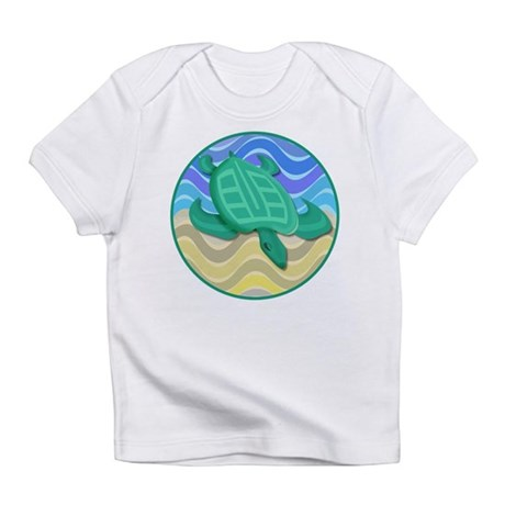Turtle On Beach Infant T-Shirt
