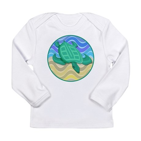 Turtle On Beach Long Sleeve Infant T-Shirt