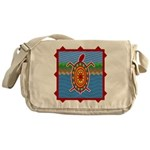 Southwestern Sea Turtle Scene Messenger Bag