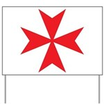 Red Maltese Cross Yard Sign