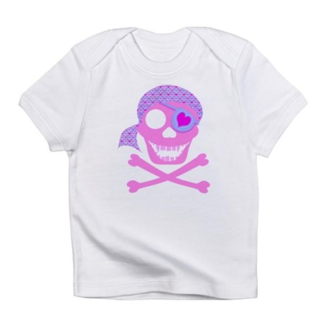 Pink Pirate Skull Infant T-Shirt