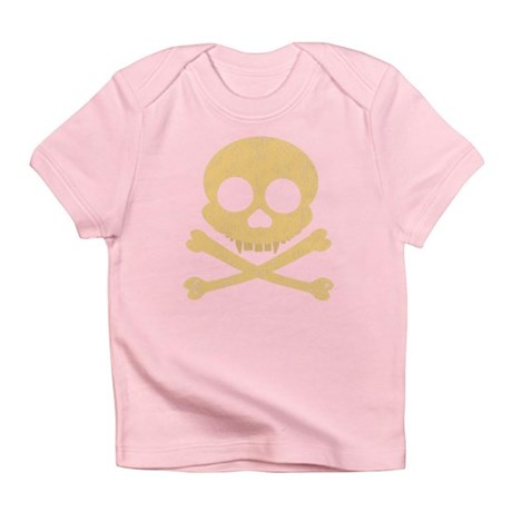 Distressed Orange Skull Infant T-Shirt