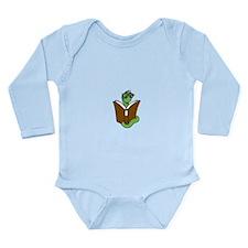 Cute Bookworm Long Sleeve Infant Bodysuit