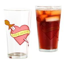 Tattoo Heart Drinking Glass