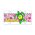 Aloha Hawaii Turtle Aluminum License Plate