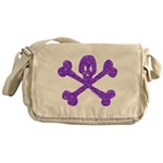 PurpleSkull&Crossbones Messenger Bag
