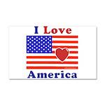 Heart America Flag Car Magnet 20 x 12