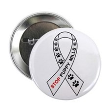 "Stop Puppy Mills Ribbon 2.25"" Button"