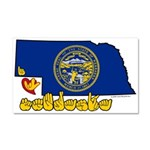 ILY Nebraska Car Magnet 20 x 12